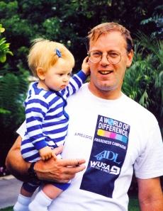 Lucy and DH, Santa Barbara, 1998