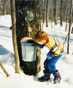 Jon checking buckets, 1993