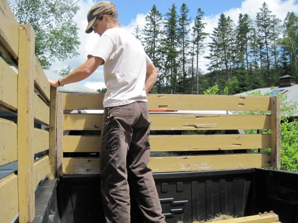 wood truck rack