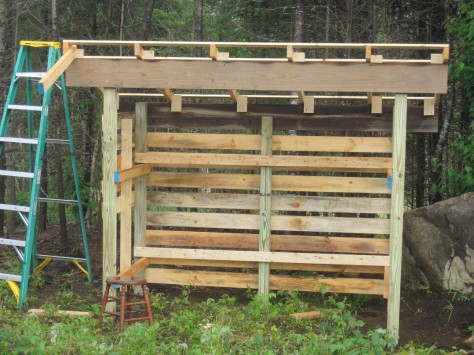 Pdf plans how to build a 3 sided wood shed download dado for Three sided shed plans