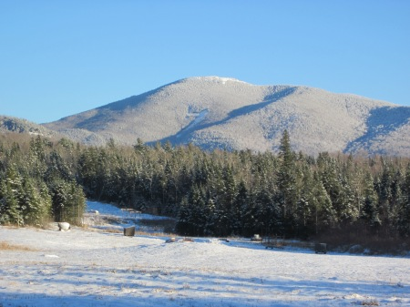 Cascade Mountain from the back field, 12/7/14